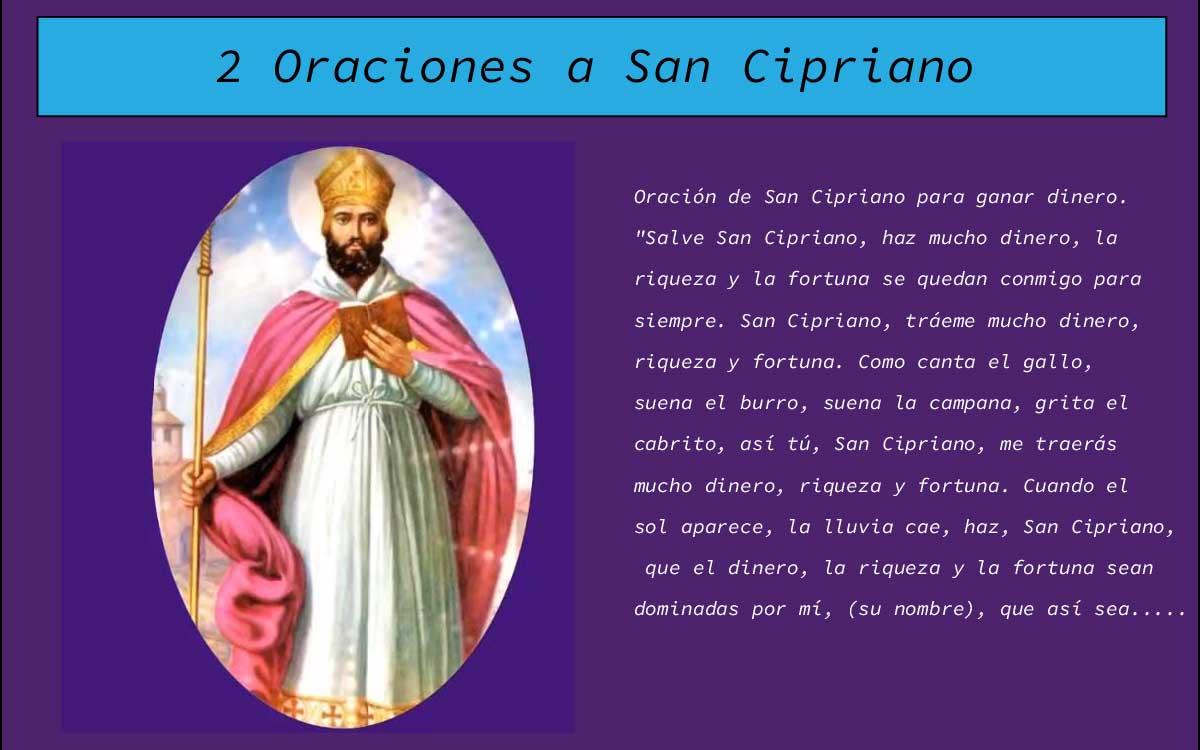 2 Oraciones a San Cipriano