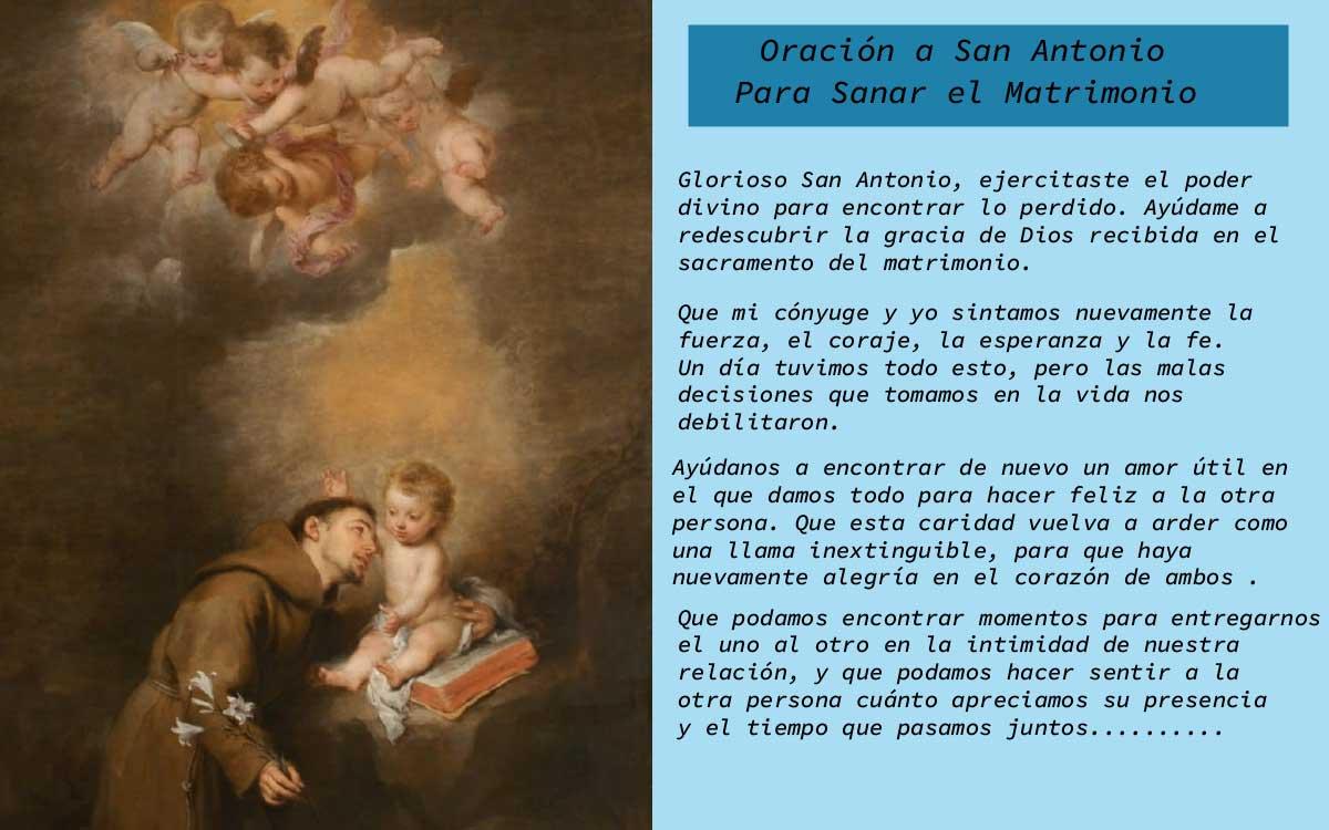 Oración a San Antonio para sanar el matrimonio