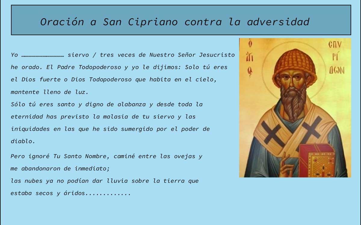 Oración a San Cipriano contra la adversidad