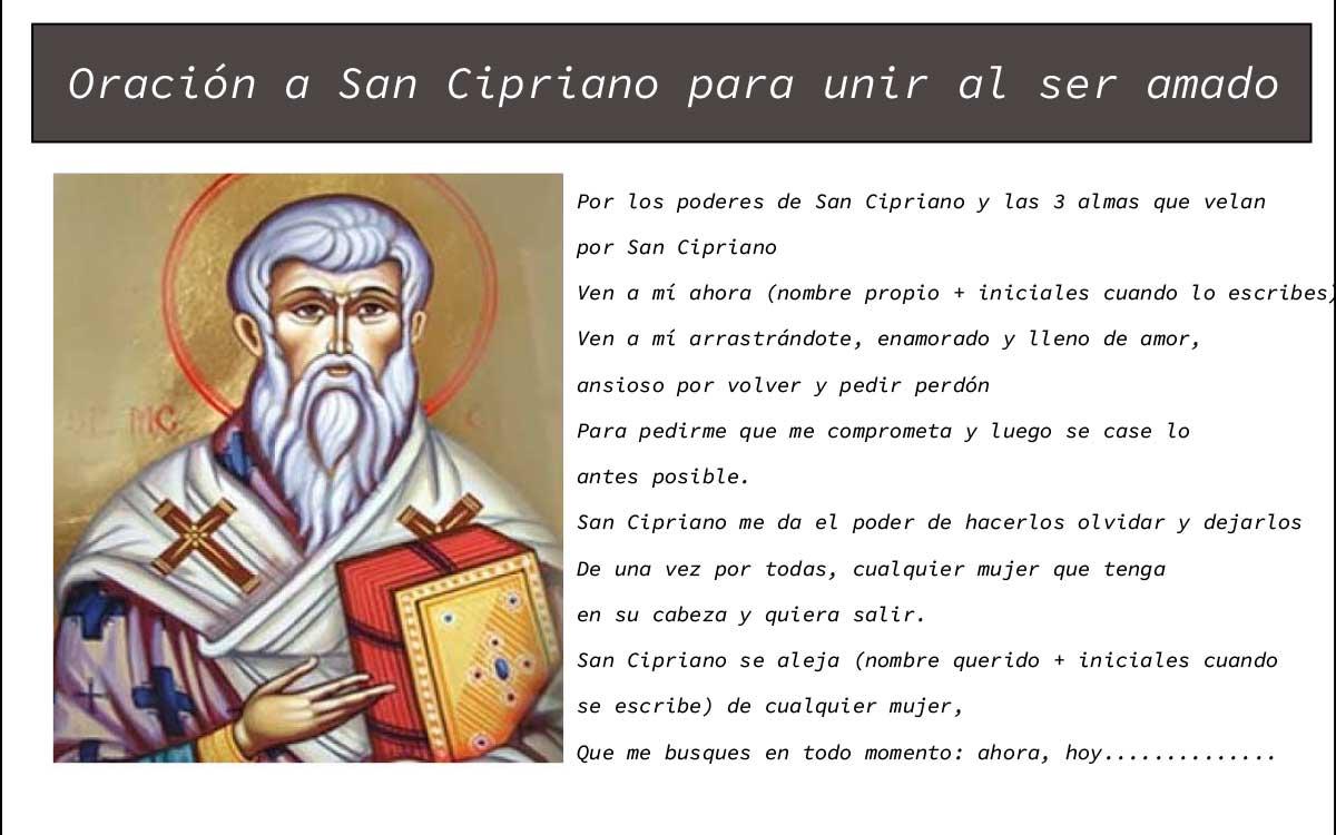 Oración a San Cipriano para unir al ser amado