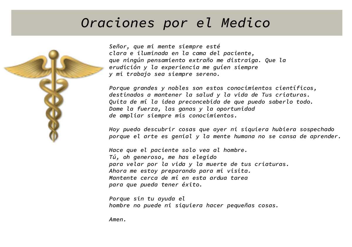 Oraciones por el Medico