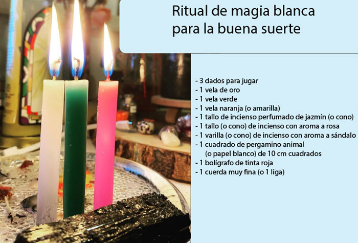 RITUAL DE MAGIA BLANCA PARA LA BUENA SUERTE