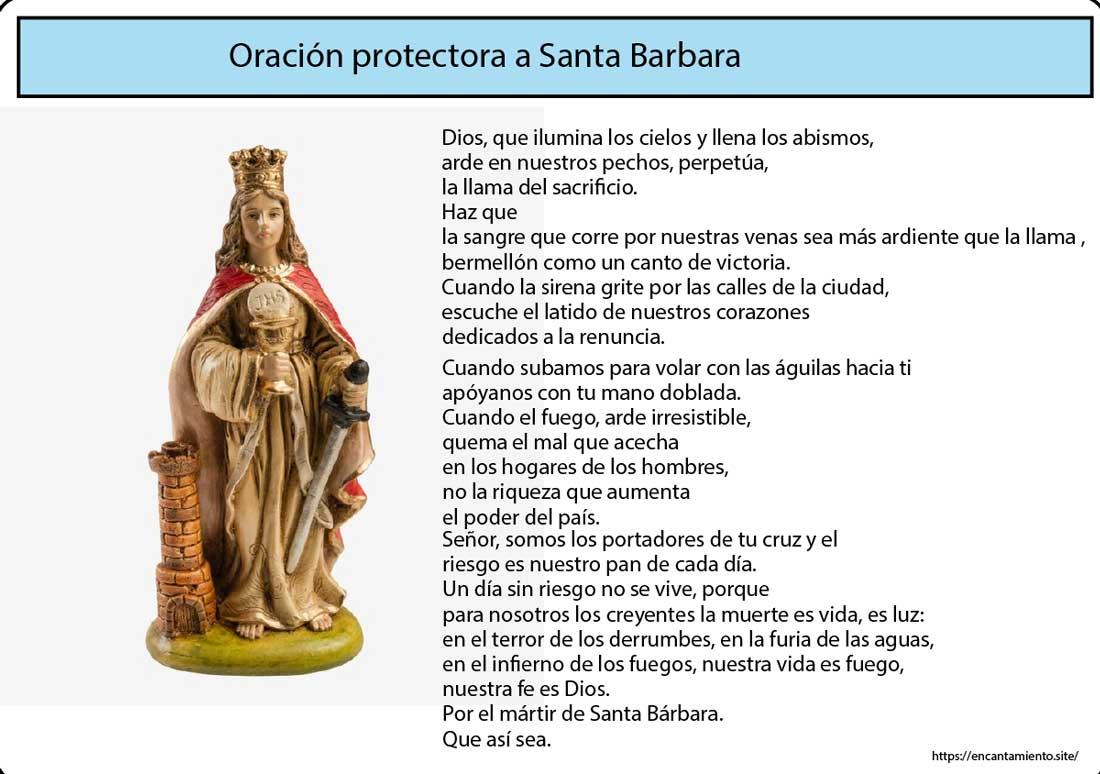 Oración protectora a Santa Barbara